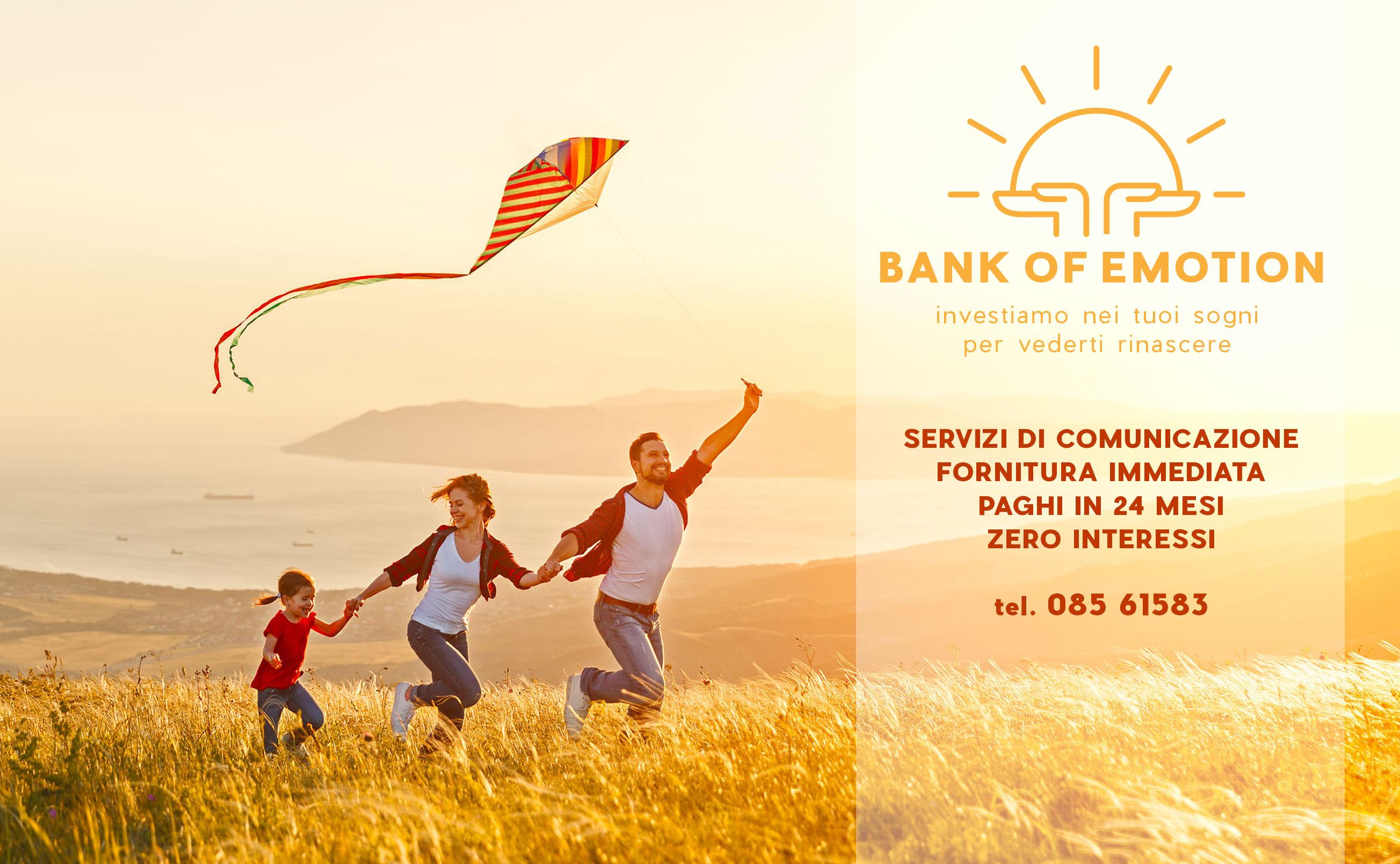 BANK OF EMOTION per sostenere le aziende colpite dall'Emergenza Covid-19